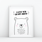 I Love You Beary Much Print