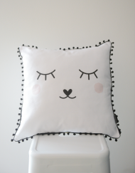 Sleepy Face Scatter Cushion