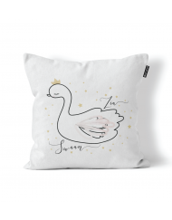 Personalised Swan Scatter Cushion