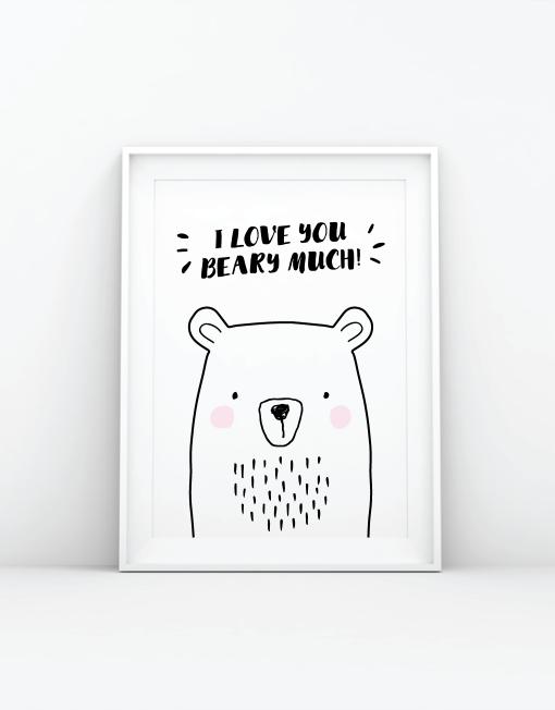 I Love You Beary Much Print