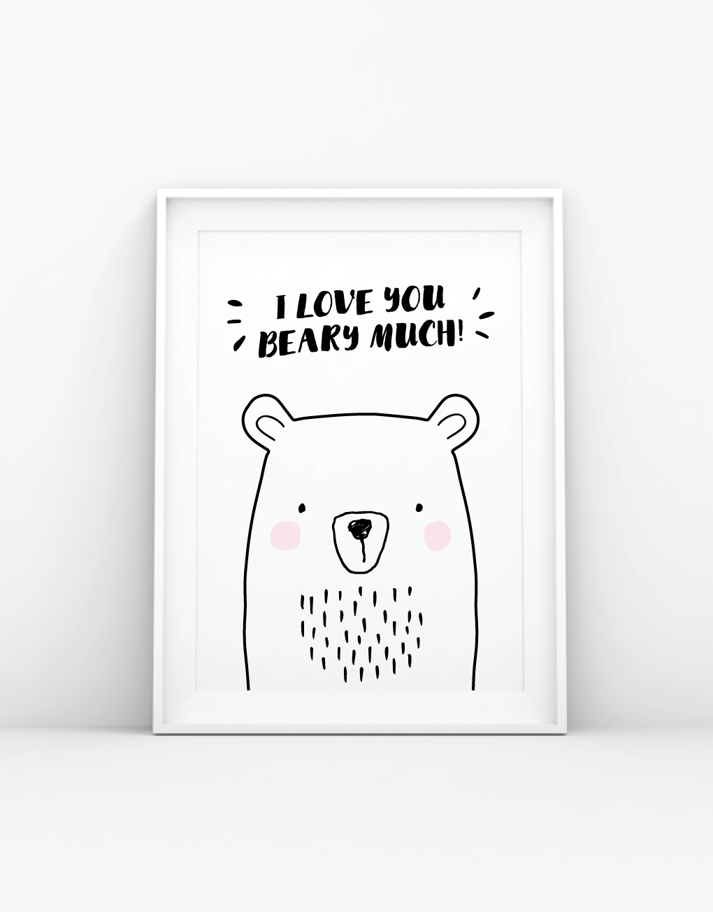 I Love You Beary Much Print Made By Hello Dolly Designs