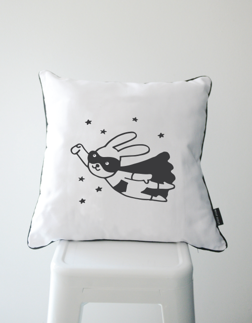 Superhero Bunny Scatter Cushion
