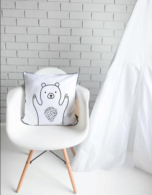 Happy Bear Scatter Cushion