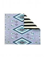Blue Moroccan/Stripe Play Mat