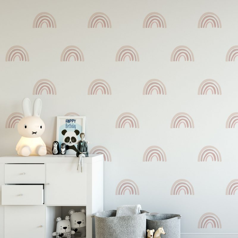 Pink Rainbow Wall Decals