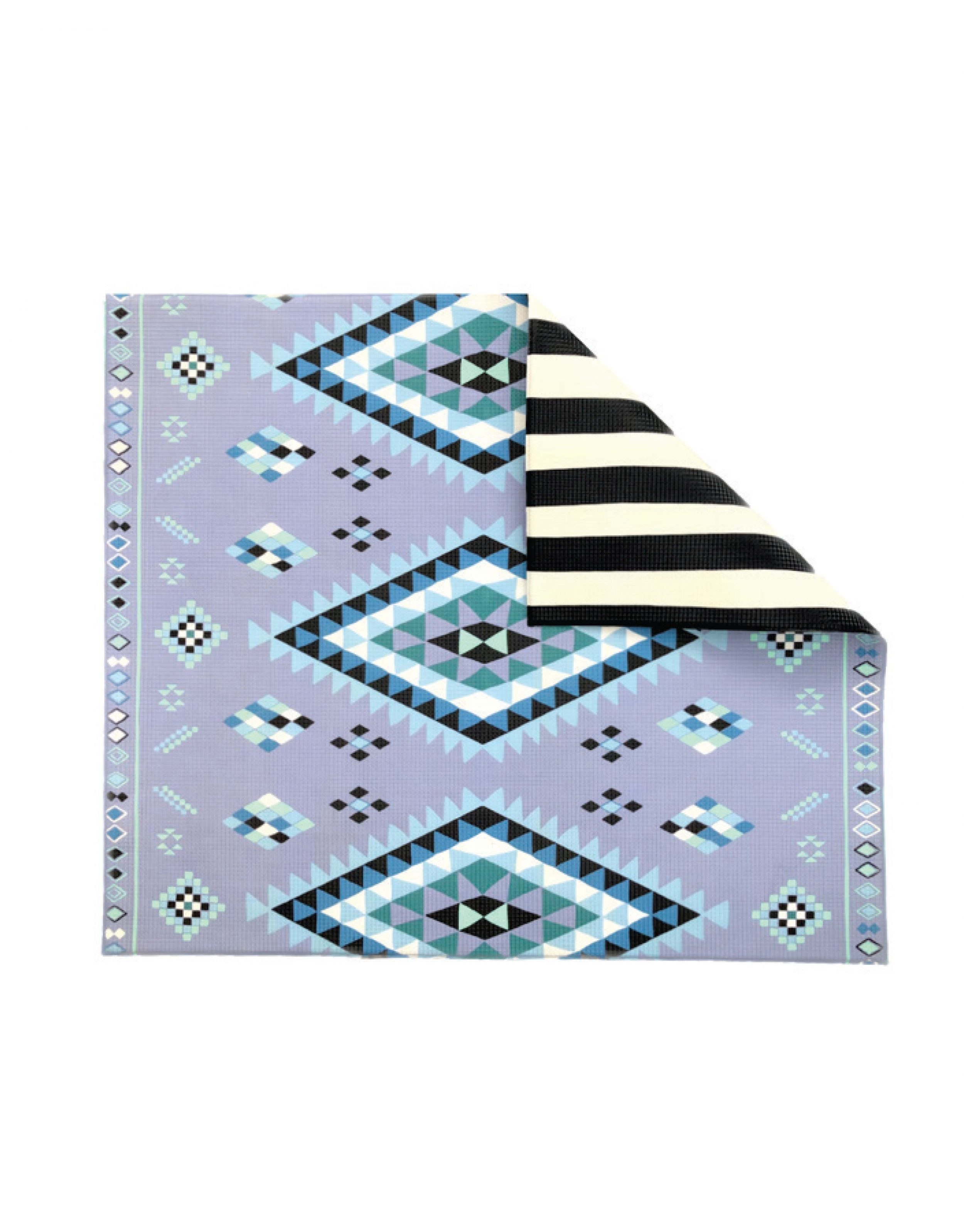 Blue Moroccan Rug/ Stripe Play Mat