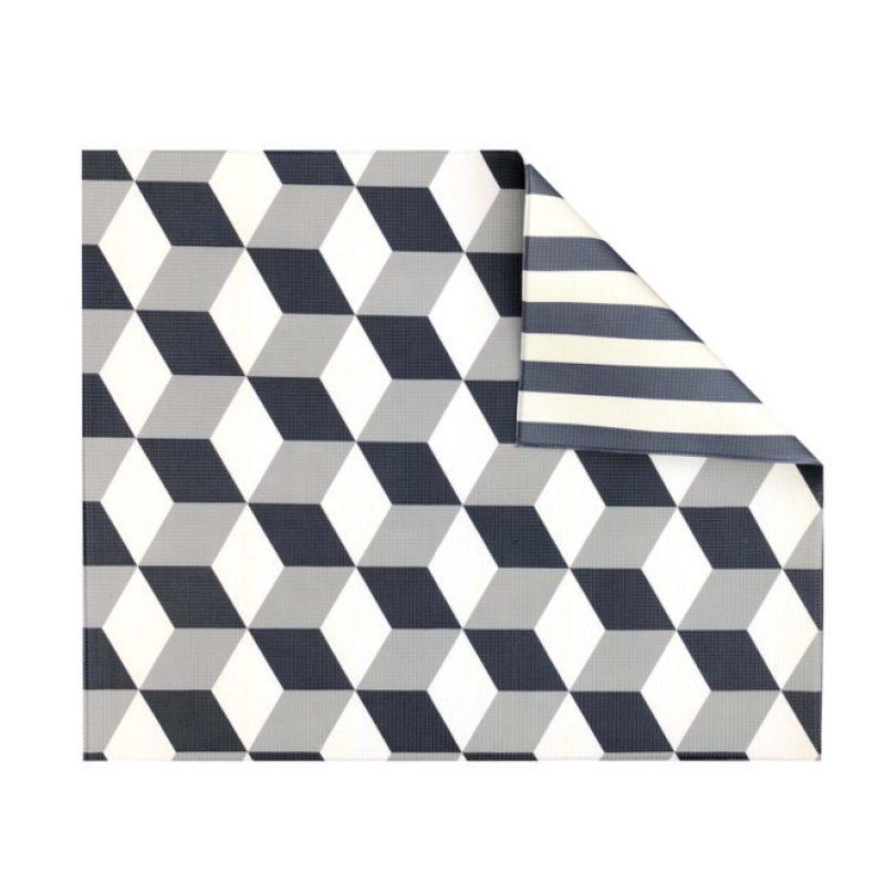 Grey Geo/Stripe Play Mat