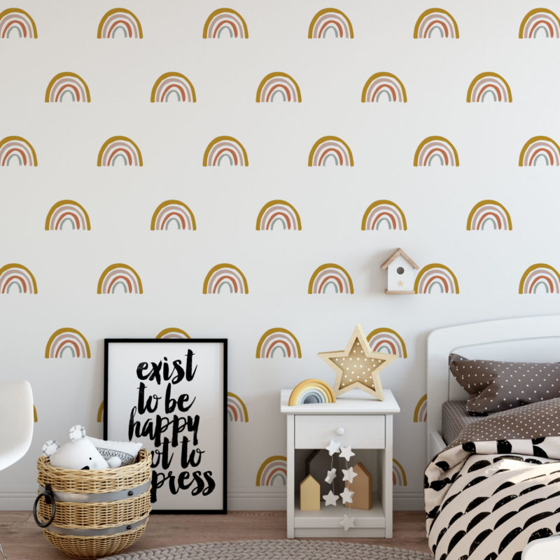 Earthy Rainbow Wall Decals