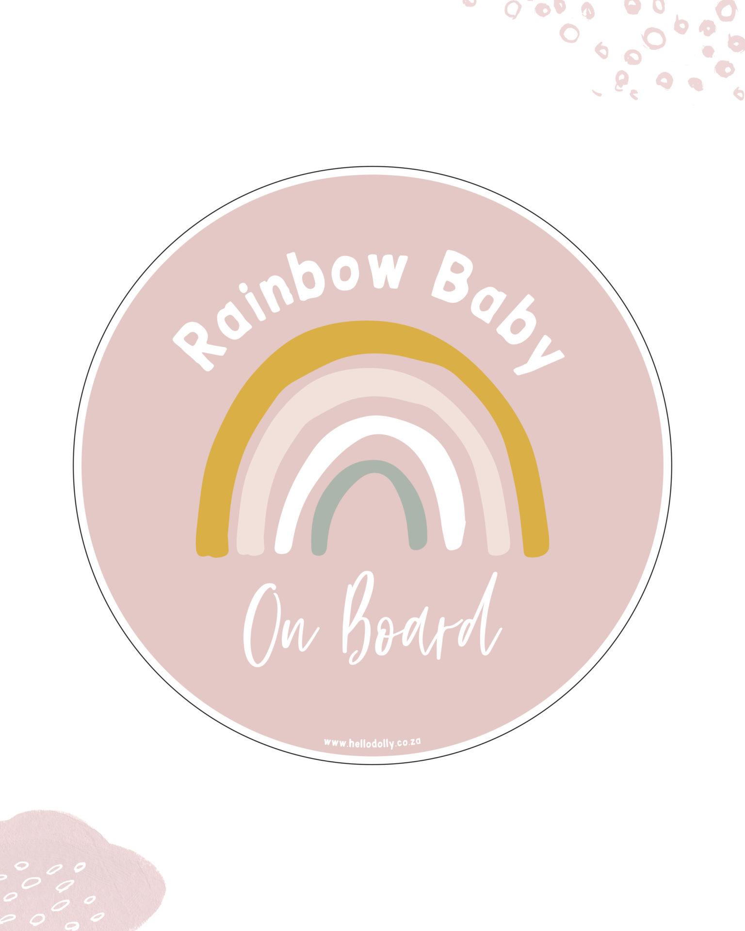 Girl Rainbow Baby on Board
