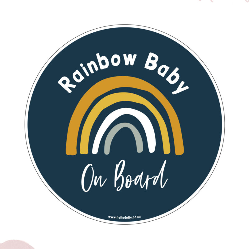 Boy Rainbow Baby on Board