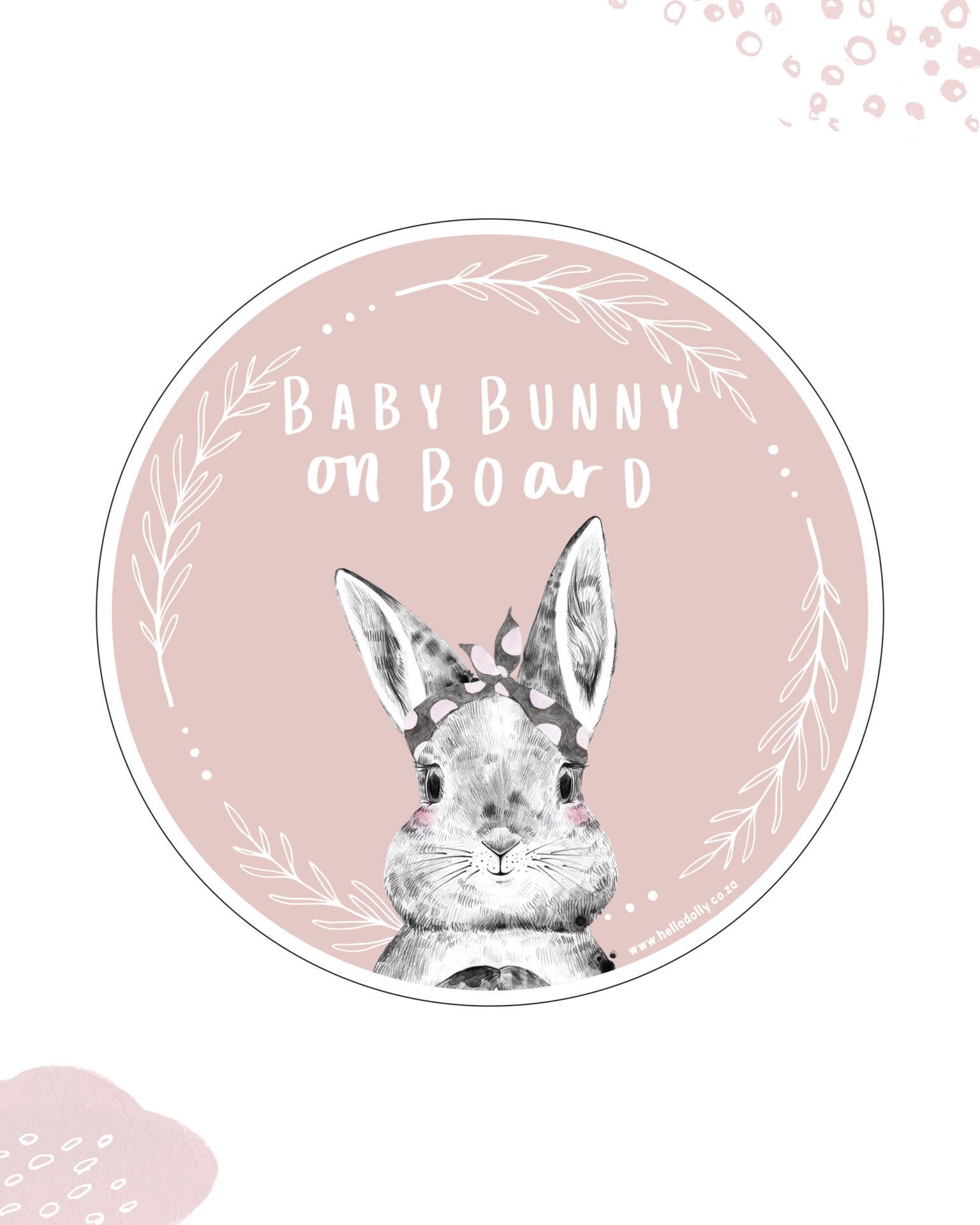 Baby Bunny on Board Sticker