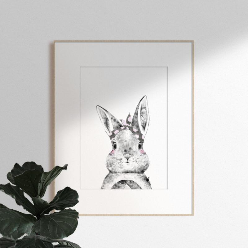 Bunny Woodlands animal print