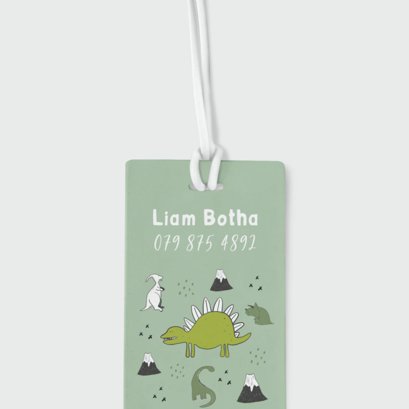 Dinosaur Roar Bag Tag