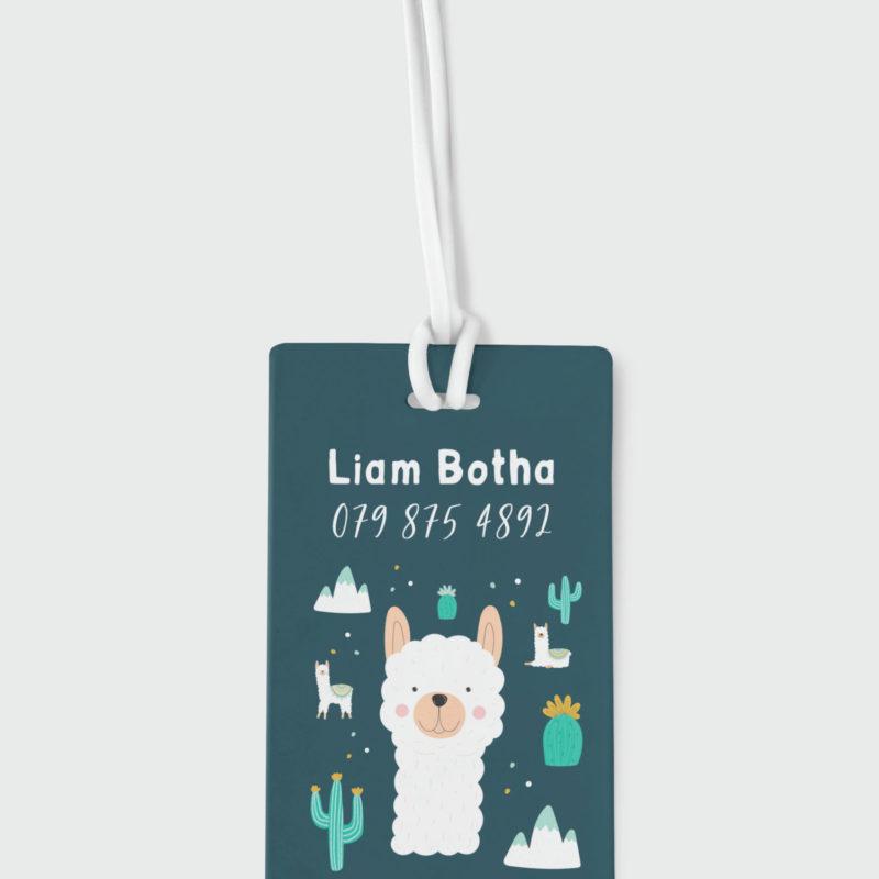 Llama Boy Bag Tag