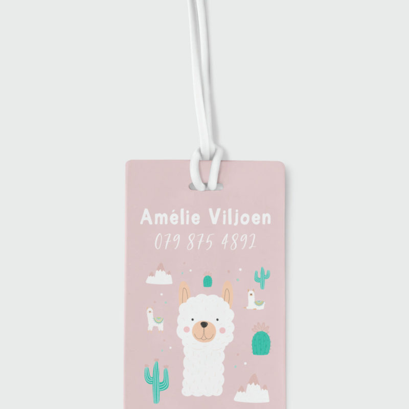 Llama Girl Bag Tag